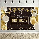 MEISHANG Birthday Party Decoration,Birthday Party Background,Compleanno Poster in Tessuto Sfondo per,Sfondo Fotografico di Co
