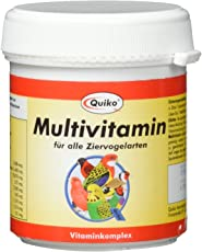 Quiko Multivitamin - Vitaminkomplex in Pulverform für alle Ziervogelarten, Dose