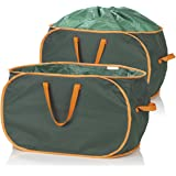 PRIMA GARDEN Verschließbare Gartenabfalltasche 333 Liter | 2er Set | Reißfest | Wasserabweisend | 3 Tragegriffe | Ideal für Laub, Gras & Beschnitt