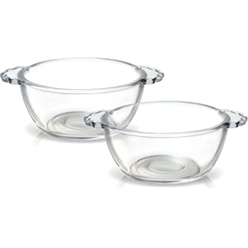 Treo by Milton Glass Dessert Bowl with Handle, 260ml, Set of 2, Transparent