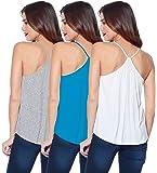 THE BLAZZE 1007 Women's Cotton Camisole for Women Camisole Women Camisole Slip for Women Tops for Women Spaghetti Top…