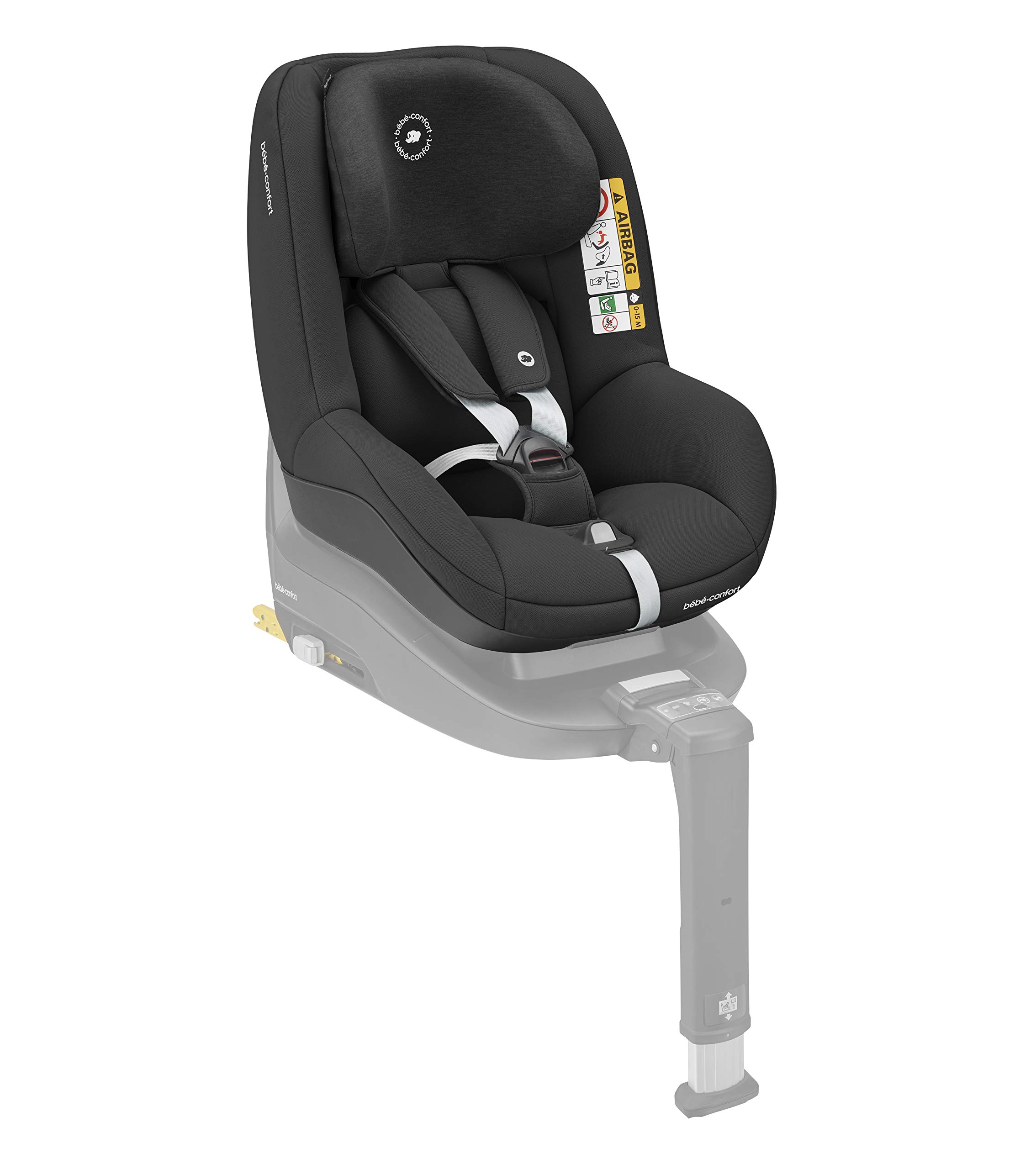 Bébé Confort Pearl Smart i Size 6.88 kg Bébé Confort Car seat 9-18 kg for children from 6 months to 4 years approx. height between 67 - 105 cm, approved i-size (ECE R129) Can be used in the opposite direction of travel up to 4 years (a backward mounted seat is 5 times safer) to protect baby's head and neck Car seat reclines into 4 positions in both directions for maximum comfort for your child. 2
