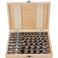 Schlangenbohrer-Satz 23cm lang 6–20 mm Holzbohrer Spiralbohrer Balkenbohrer Bohrer 8-teilig in Holzbox Holzbohrer…