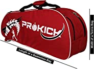 Prokick Double Zipper Badminton/Tennis Kit Bag with Shoe Compartment