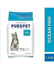 Purepet Adult(+1 Year) Dry Cat Food, Ocean Fish, 1.2kg