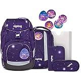 ergobag Pack Galaxy Glow Schulrucksack Set 6-tlg. Bärgasus Glow BTS