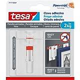 Tesa TE777-00001-00 SMS Clavo Adhesivo Ajustable Hasta 2 kg para Pared Pintada, standaard, 2 stuks