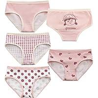 MiSense 5 Pezzi Mutandine Bambina Cotone Mutande Culotte Bimba Slip Bambine e Ragazze 2-8 Anni
