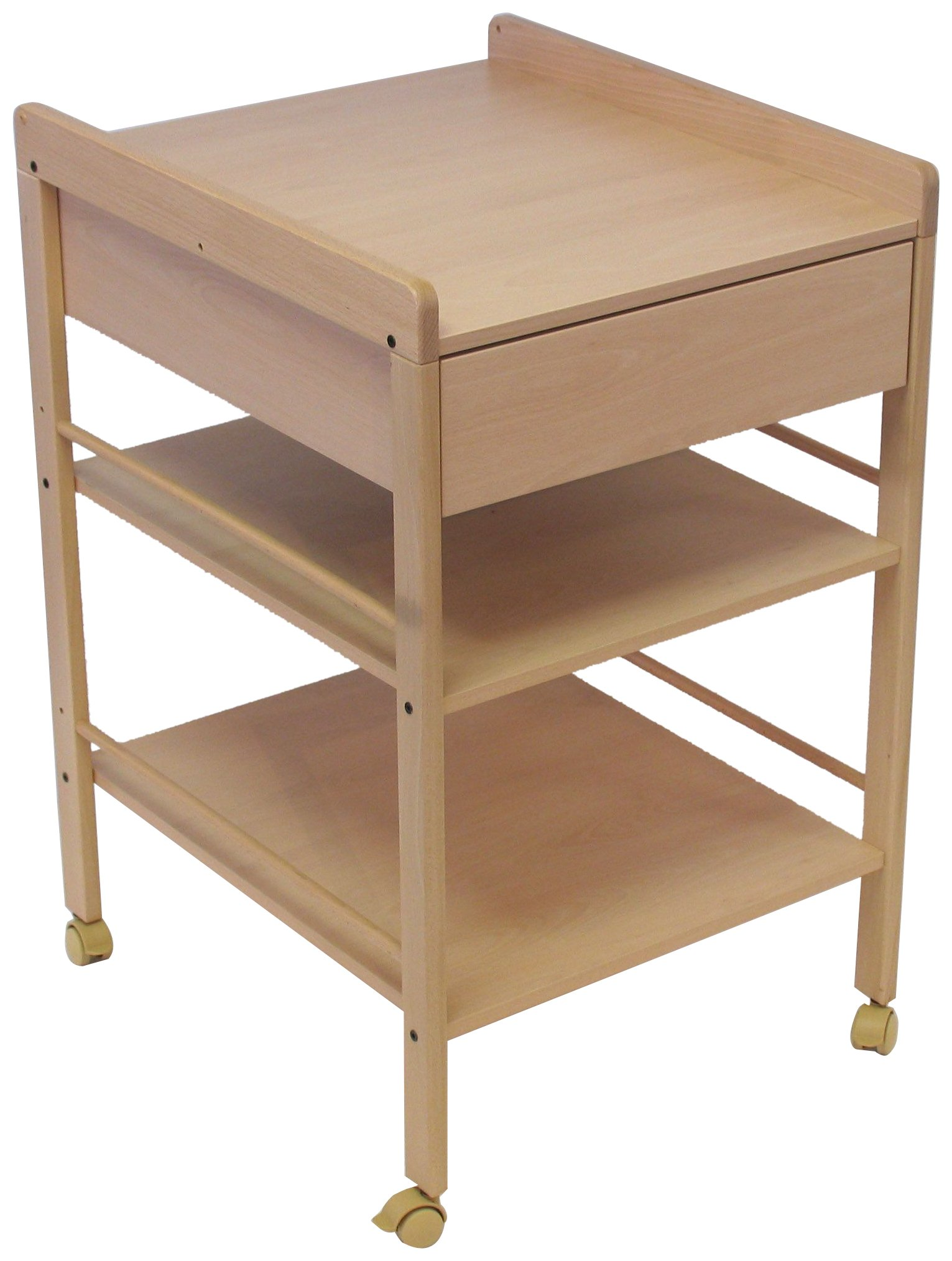 """Geuther Lotta Changing Table (Natural) Geuther Geuther strive to minimise Volatile Organic Compounds """"VOC's"""" used in the manufacturer of product which means much less gas or odour emissions. Geuther use the highest quality beech wood grown in Germany in most of their manufacturing which makes their wooden products sturdier,longer life,and much more resilient to knocks and bangs. Geuther use only water based lacquers and paints which means nothing toxic is present in any of their furniture. 1"""