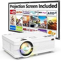 Projecteur QKK 5000 Lumen 1080P Full HD Supporté, Vidéoprojecteur HD 720P Natif Compatible avec TV Stick PS4 Smartphone…