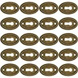 Bestzy Antieke ovale sleutelbordjes, 20-delige slot-rozetten, slotbeslag, sleutelgat rozet in messing patineerd messing desig