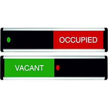 Green / Red Edition Viro Vacant/Occupied Sliding Door Sign 264 x 60mm
