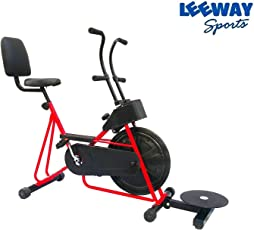 Leeway Fix Handle Stamina 201 Gym Bike with Twister (Red)