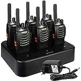 Retevis H777 Plus Walkie Talkie Recargable, Walki Talky con Cargador de Seis Vías, PMR446 16 Canales Licencia Libre, Linterna
