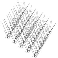 Bird Spikes for Pigeons Small Birds Cats 4.6M (15 feet), Anti Climb Security Wall Fence Stainless Steel Birds Defence Spikes Bird Arrow Repeller Deterrent Spikes-Cover, 33cm per set (set of 14)