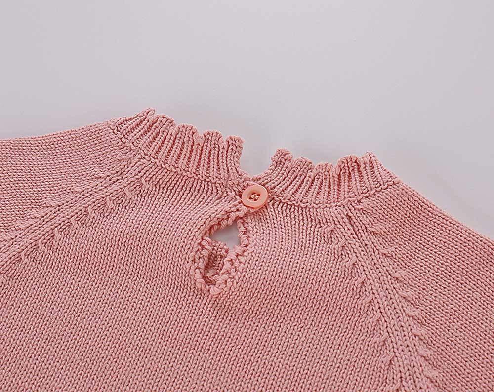 Mitlfuny Unisex Suéter Mameluco Ropa de Punto Invierno Otoño Recien Nacido Bola de Pelo Correa Princesa Camisa Tejer… 5