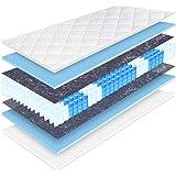 Matratzen Perfekt 20 cm hohe orthopädische 7-Zonen Taschenfederkernmatratze Köln Bezug waschbar, 60°C (90 x 200 cm, H3)