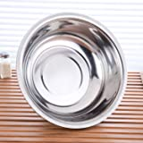 Stainless Steel Bowl, 3QT Salad Bowl,Metal Bowls,Stainless Steel Basin,Heavy Duty Deeper Edge Mirror Finish Dishwasher Safe b