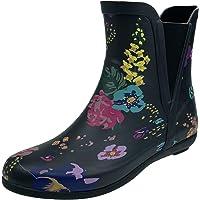 Women's Wellington Ankle Boots Flat Chealsea Boots Waterproof Garden Shoes Non-Slip