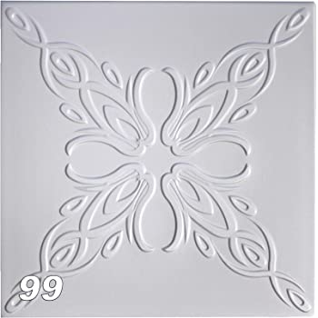 20 qm Sparpaket Deckenplatten Polystyrolplatten Decke Dekor 50x50cm Nr.109