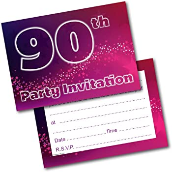 90th birthday invitations 10 pack amazon co uk office products