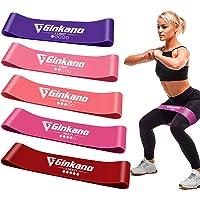 Haquno - Fasce Elastiche per Fitness, Elastiche di Resistenza, con Guida di Esercizi, 5 Bande Elastiche da Fitness, in…
