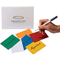 ECENCE 30 Étiquettes magnétiques inscriptibles, de 100x70mm, en Multi-Coloured et découpables. Étiquettes magnétiques…