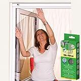 Insectenwerende hor voor ramen 130 x 150 cm wit