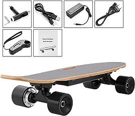 Acecoree Elektro Longboard Elektrisches Skateboard Cruiser Lithium kabellose Fernbedienung für Kinder ab 8