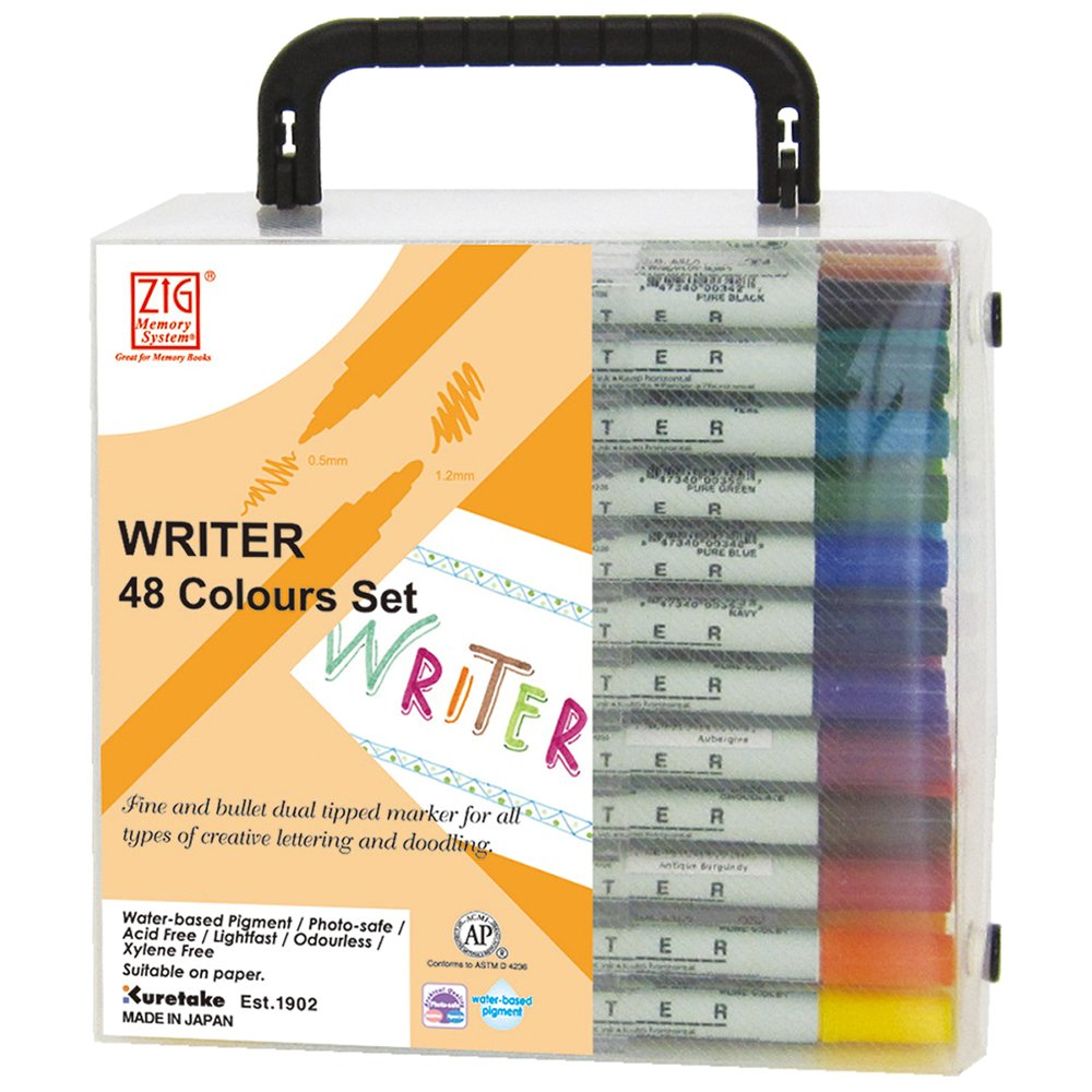 Zig Memory System Writer Dual-Tip Markers, 48 pezzi