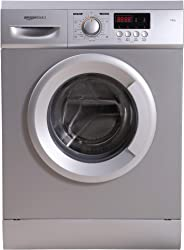 AmazonBasics 7 kg Fully-Automatic Front Load Washing Machine (Grey/Silver, In-built Heater, Self cleaning technology)