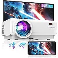 Vidéoprojecteur WiFi, TOPTRO 6000 Lumens Bluetooth Mini Projecteur Portable Soutien Full HD 1080P Rétroprojecteur Home…