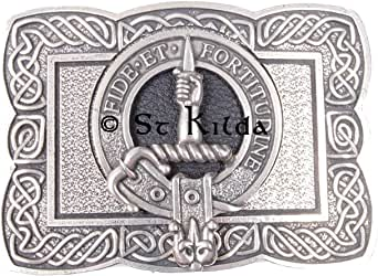 Shaw Clan Crest Kilt Belt Buckle