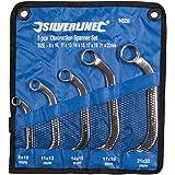 Silverline 945235 5 clés plates courbées 8-22 mm
