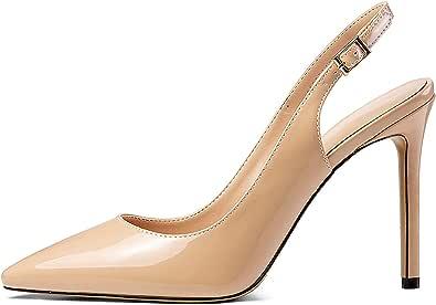 Mettesally - Scarpe con Cinturino alla Caviglia Donna - Scarpe col Tacco 10CM