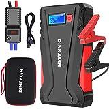 DINKALEN Booster Batterie Voiture 12800mAh 800A Portable Booster de Batterie Moto (Jusqu'à 6.0L Essence/5.0L Diesel) avec Écr