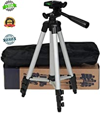 Stealkart Tripod Camera Stand for Canon 700d, Canon 1300d, Canon 750d, Canon 200d and Other Canon, Nikon DSLR, All Smartphones & Cameras Come with Mobile Holder and Carry case