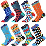 BONANGEL Chaussettes Homme Fantaisie,Lot de Chaussettes pour Hommes Coton Fantaisie Imprim¨¦ Socks 39-46 Multicolore…
