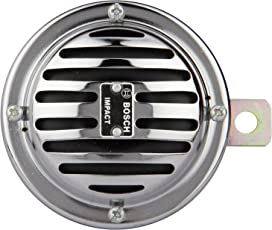 Bosch F 002 H10 187-8F8 High Performance Impact Horn, 12V, Chrome (Set of 2)