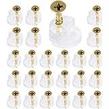 150 stks Glas Retainer Klem Kit, Glas Standoff, Spiegel Clip voor Kabinet Deuren Garderobe met 150 Bevestigingsschroeven, Pun
