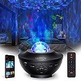 Sterprojector, TASMOR Galaxy-projector Bluetooth RGBW, LED-ster Nachtlampje Luidspreker Geluidssensorbediening met afstandsbe