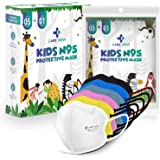 Careview Kids N95 Face Mask (Pack of 5 + 1 Free), MIX Colors,5 Layered Filtration, DRDO, BIS (ISI),CE Certified, Ear Loop Sty