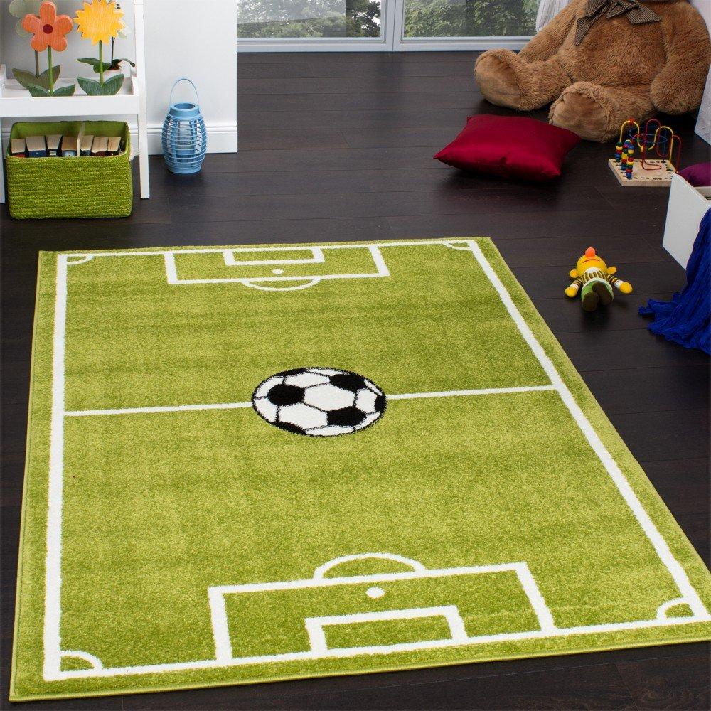 Teppich Kinderzimmer Fußball Spielteppich Kinderteppich ...
