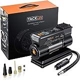 TACKLIFE M1 Compressore Portatile per Auto - 40L/Min Mini Pompa Elettrica a Basso Rumore, 150PSI Manometro Digitale Preciso,
