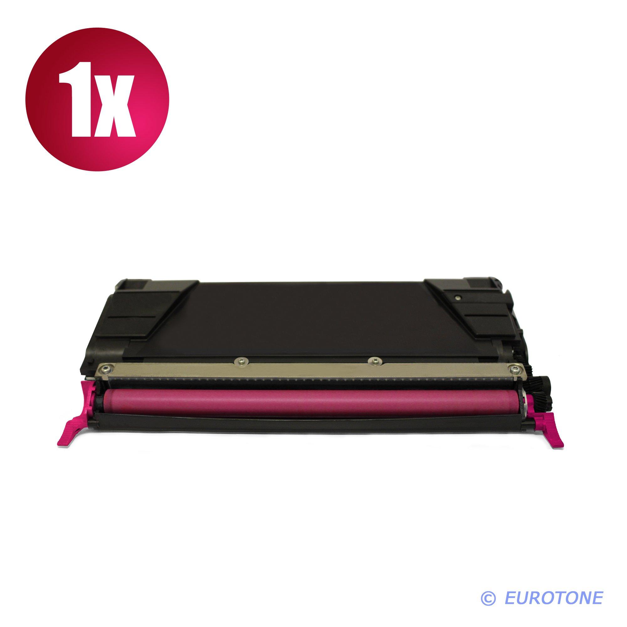 1x Eurotone Cartuccia Toner per Lexmark CS 736 dn sostituisce 0C736H1MG Rosso Magenta