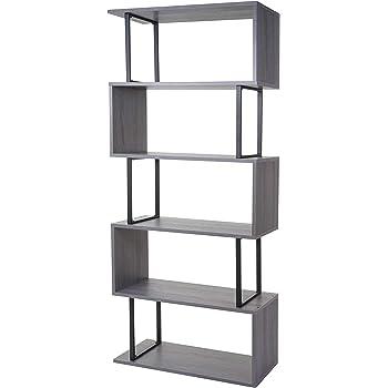 Amazon.de: HOMFA S-Form Bücherregal Raumteiler Regal
