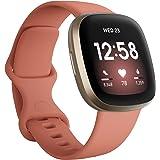 Fitbit Versa 3 - smartwatch zdrowia & aktywności fizycznej z wbudowanym systemem GPS, 24/7 pomiarem tętna, Asystentem Głosowy