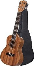 Zabel Ukulele 23-inch Saple Wood Guitar with Bag