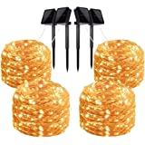 Solar Fairy String Light 200 LED Copper Wire Light Waterproof Decoration Strip Light for Indoor Outdoor Patio Garden Party We