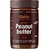 Nutrio Chocolate Peanut Butter (Chocolaty Flavor) | Made with Roasted Peanuts, Cocoa Powder & Choco Chips | Zero Cholesterol